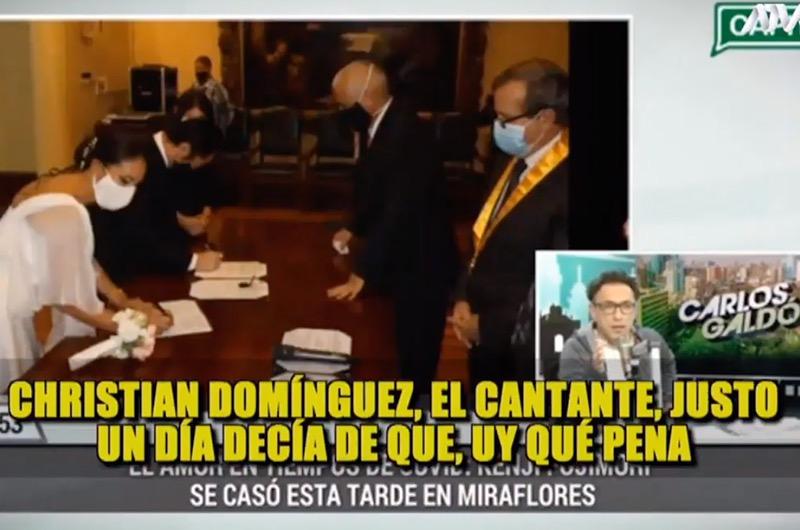 Carlos Galdós se burla de Christian Domínguez ¡y lo compara con Kenji Fujimori!