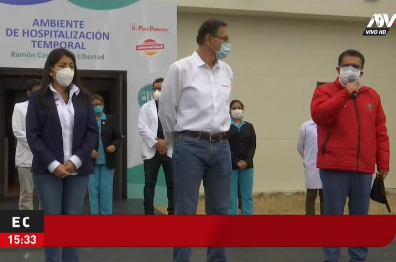 Trujillo: Presidente Vizcarra inaugura hospital temporal en colegio militar
