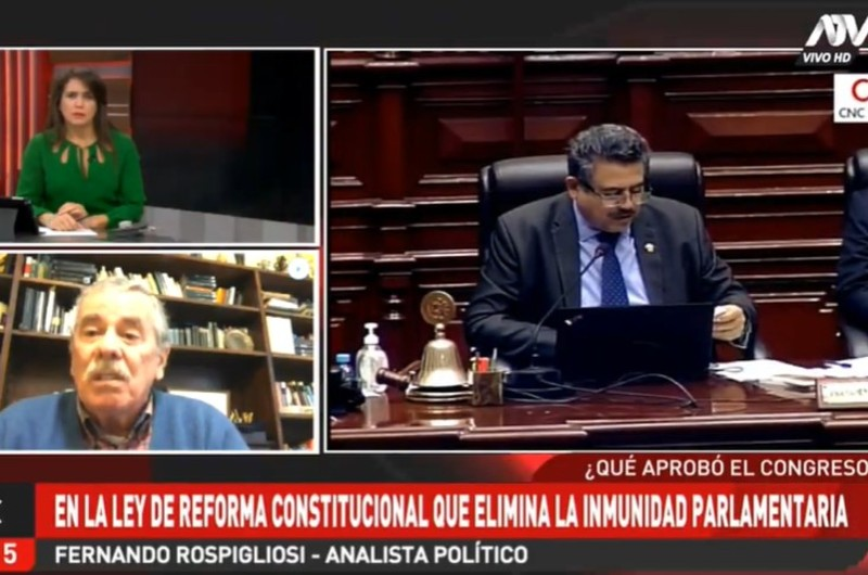Fernando Rospigliosi se pronuncia por eliminación de inmunidad parlamentaria