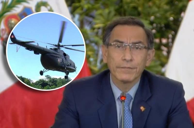 Fuerza Aérea: Martín Vizcarra lamenta fallecimiento de tripulantes del helicóptero siniestrado