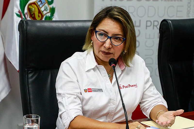 Ministra de la Producción, Rocío Barrios, dio positivo a COVID-19