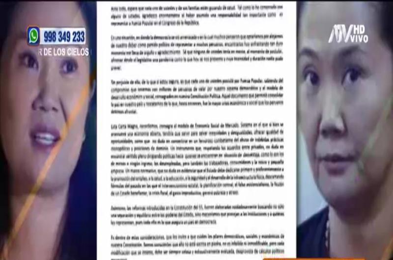 Giulliana Loza defiende a Keiko Fujimori de fiscal Pérez