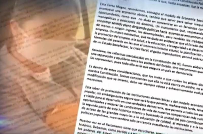 Keiko Fujimori pide a Fuerza Popular defender la constitución