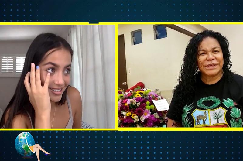 Isabela Merced recibe emotiva sorpresa de Eva Ayllón