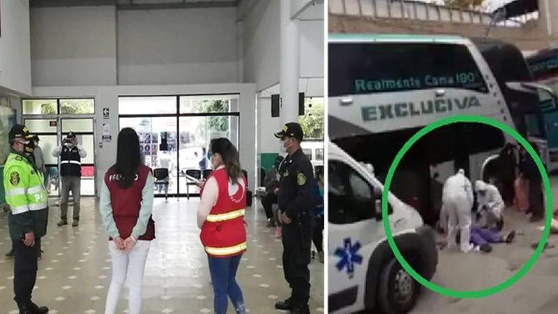 Mujer muere repentinamente dentro de bus interprovincial ¡Y la empresa activa protocolo de COVID-19!