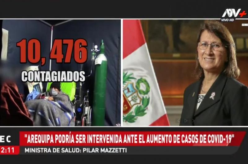 """Pilar Mazzetti: """"Arequipa podría ser intervenida ante el aumento de casos de Covid-19"""""""
