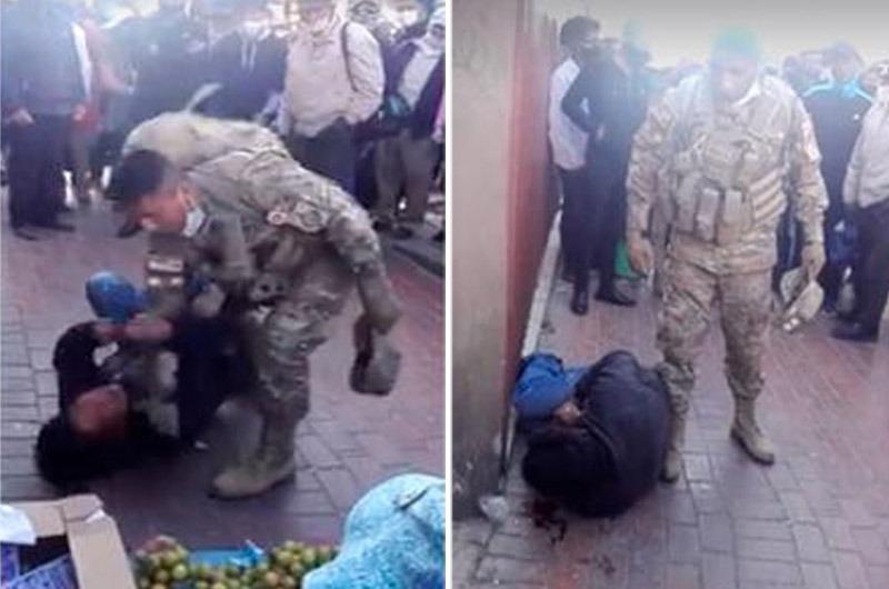 Militar golpea a ladrón que estaba robándole a una mujer ¡Y genera controversia en las redes sociales!