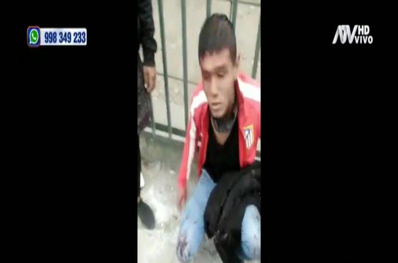 Capturan a ladrón de celular en San Juan de Miraflores