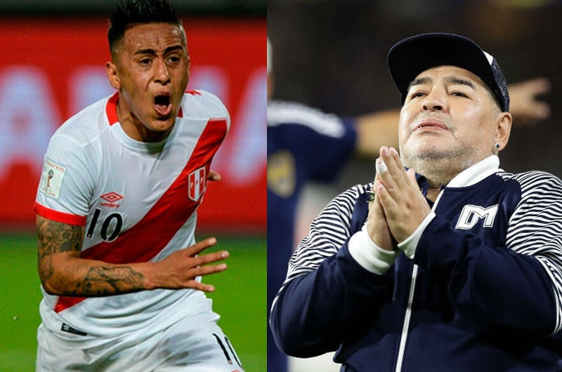Diego Maradona desea fichar a Christian Cueva en Gimnasia Esgrima La Plata