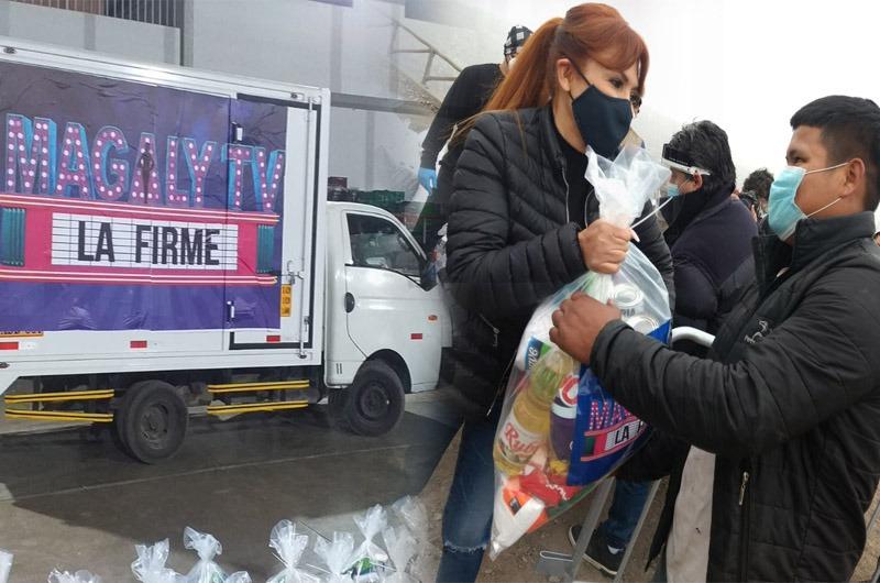 Magaly Medina dona más de 12 toneladas de víveres a pobladores de Villa María del Triunfo