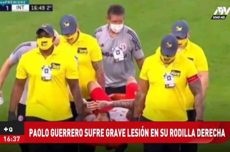 Paolo Guerrero sufrió grave lesión en su rodilla derecha