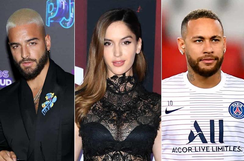 Neymar se burla de Maluma porque ahora está con su ex