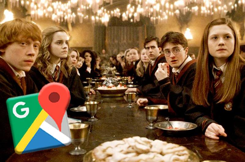 El 'Gran comedor' de las películas de Harry Potter apareció en 'Google Maps'
