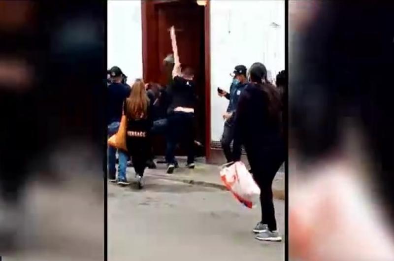 Cercado de Lima: Extranjero agredió con un palo a sereno