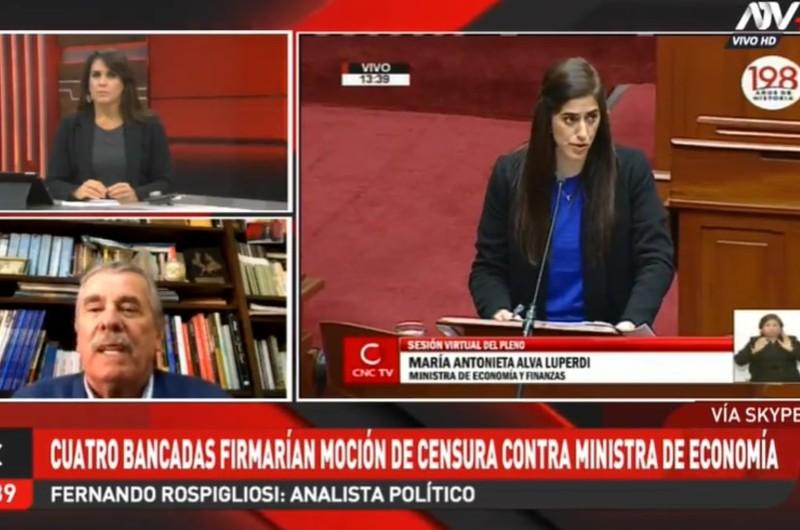 María Antonieta Alva: Fernando Rospigliosi analiza posible censura a Ministra de Economía