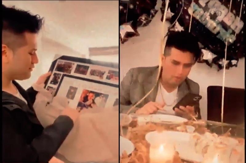 Deyvis Orosco celebra su cumpleaños con romántica sorpresa de su novia