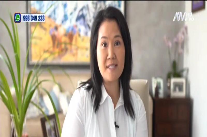 Keiko Fujimori reaparece y se refiere al populismo
