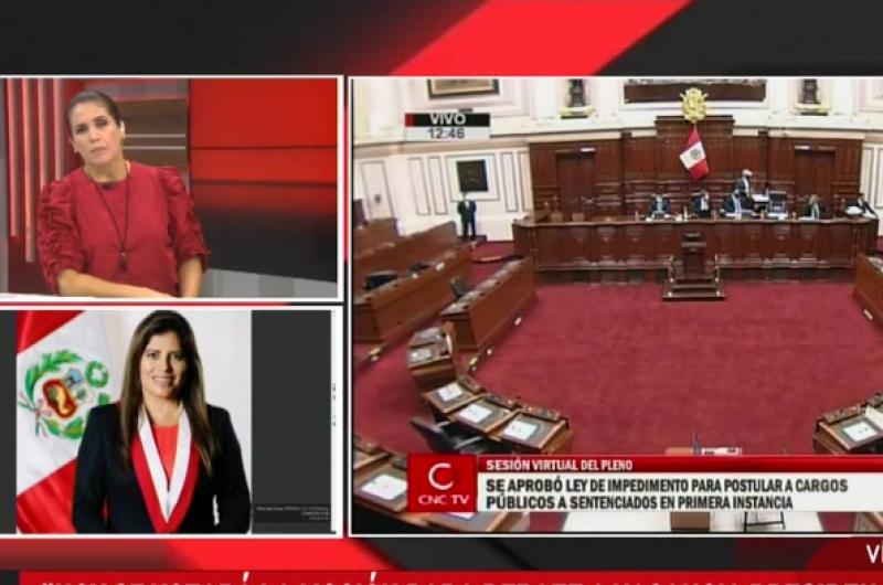 """Carmen Omonte: """"Hoy se votará la moción para debate a vacancia presidencial"""""""