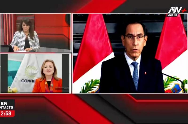 """Presidenta de la Confiep: """"Se debe garantizar que culmine su mandato"""""""