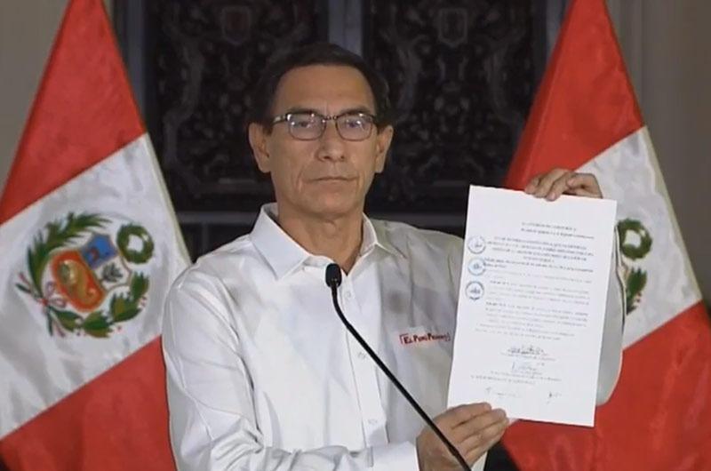 Martín Vizcarra anuncia ley que impide postular a las personas que tengan una sentencia condenatoria