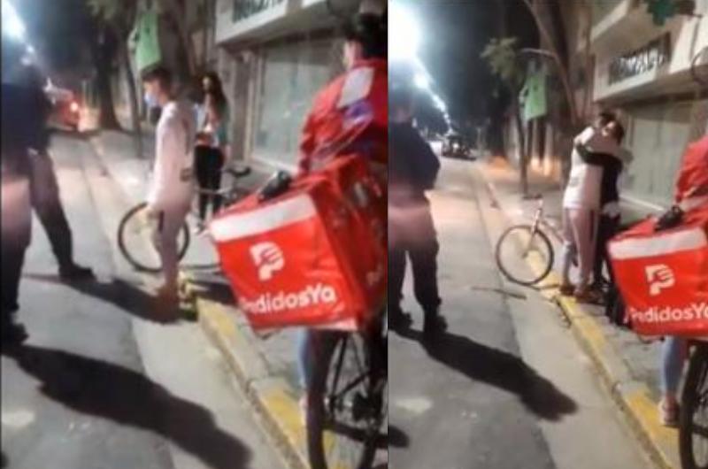 Le roban la bicicleta a repartidor ¡pero la mujer que hizo el pedido le regala la suya!