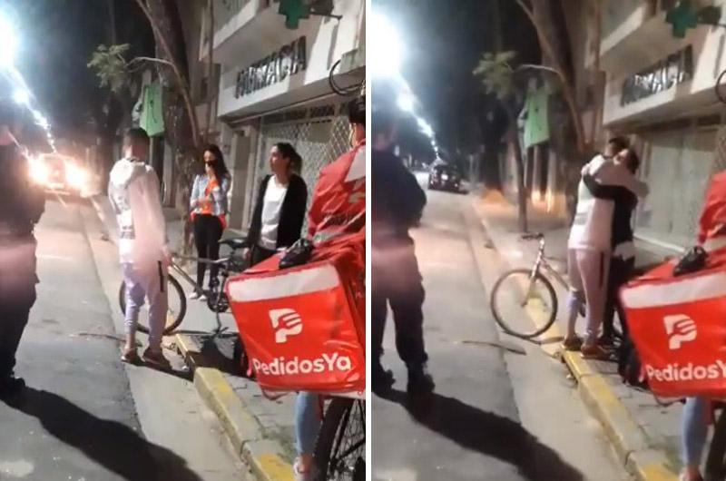 VIRAL: Repartidor de Rappi sufre robo de su bicicleta ¡Pero clienta que le hizo el pedido le regala la suya!