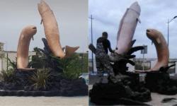 Estatuas de peces
