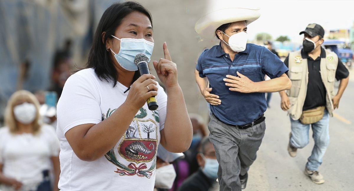Expectativas en casas de Keiko Fujimori y Pedro Castillo