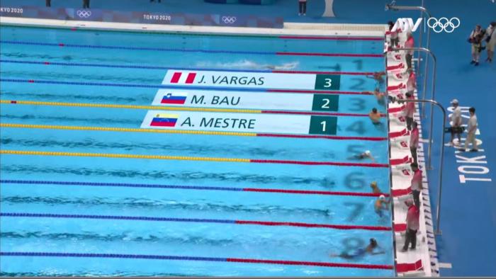 Tokyo 2020: Nadador peruano quedó tercero en su debut en los Juegos Olímpicos